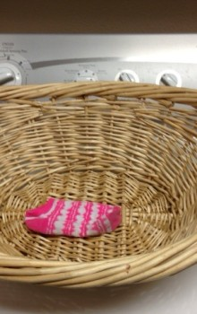 Freedom  – from the sock basket